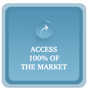 Access 100% of the Market graphic