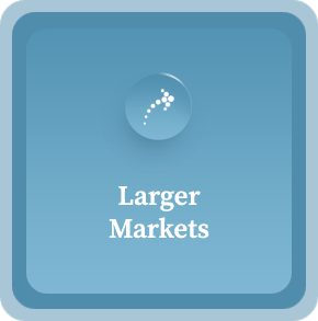 larger markets graphic